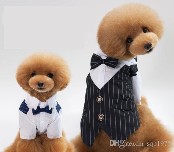 2018 Pet Clothes, Pets, Dog Suits, Gowns, Pets, Wedding Stripes ...