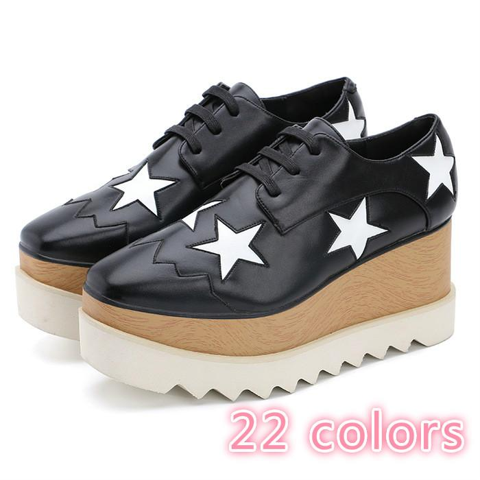 140c922374b Lady Fashion Star Shoes Women  S Platform Sole Wedges Flats British Style  Casual Thick Bottom Shoes Nude Shoes Orthopedic Shoes From Manager617
