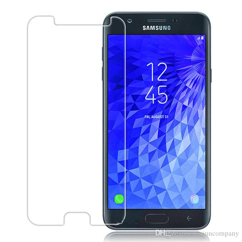 wholesale dealer efd07 1314d For Samsung galaxy j7 2018 MetroPcs J7 Crown For Samsung galaxy J7 Refine  boost Tempered Glass Screen protective With retail packaging