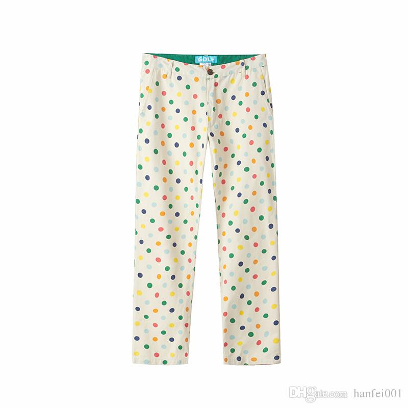 dc37551e478541 2019 18ss Golf Wang Rainbow Polka Dot Cargo Pants Street Pants Casual Loose  Causal Trousers Men Women Spring Autumn Cotton Pants HFTTCK001 From  Fashion men