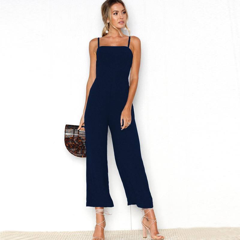 nouvelle apparence gamme exclusive magasiner pour l'original Loose Jumpsuits Women 2018 Summer Casual Rompers Strapless Ankle Length  Wide Leg Pants Combinaison Pantalon Femme Elegante Plus