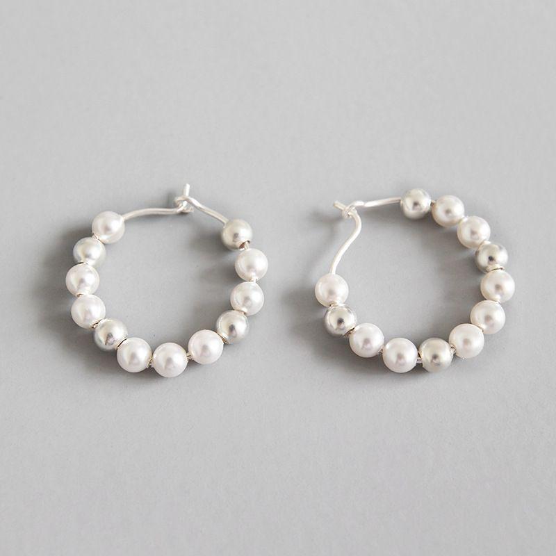 6f82453911ce 2019 925 Sterling Silver Hoop Earrings For Women Pendientes Mujer Moda 2018