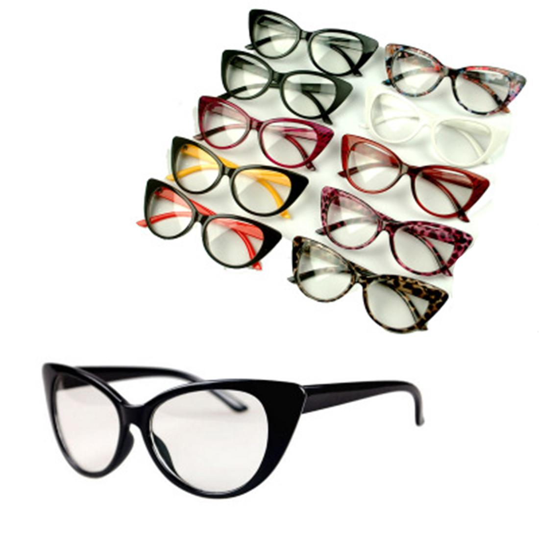 eab63def8f3b Fashion Women Cat Eye Frames Sexy Striped Retro Eyeglasses Ladies Vintage  Spectacles Frame Clear Lens Glasses Designer Online with  1.47 Piece on  Super03 s ...