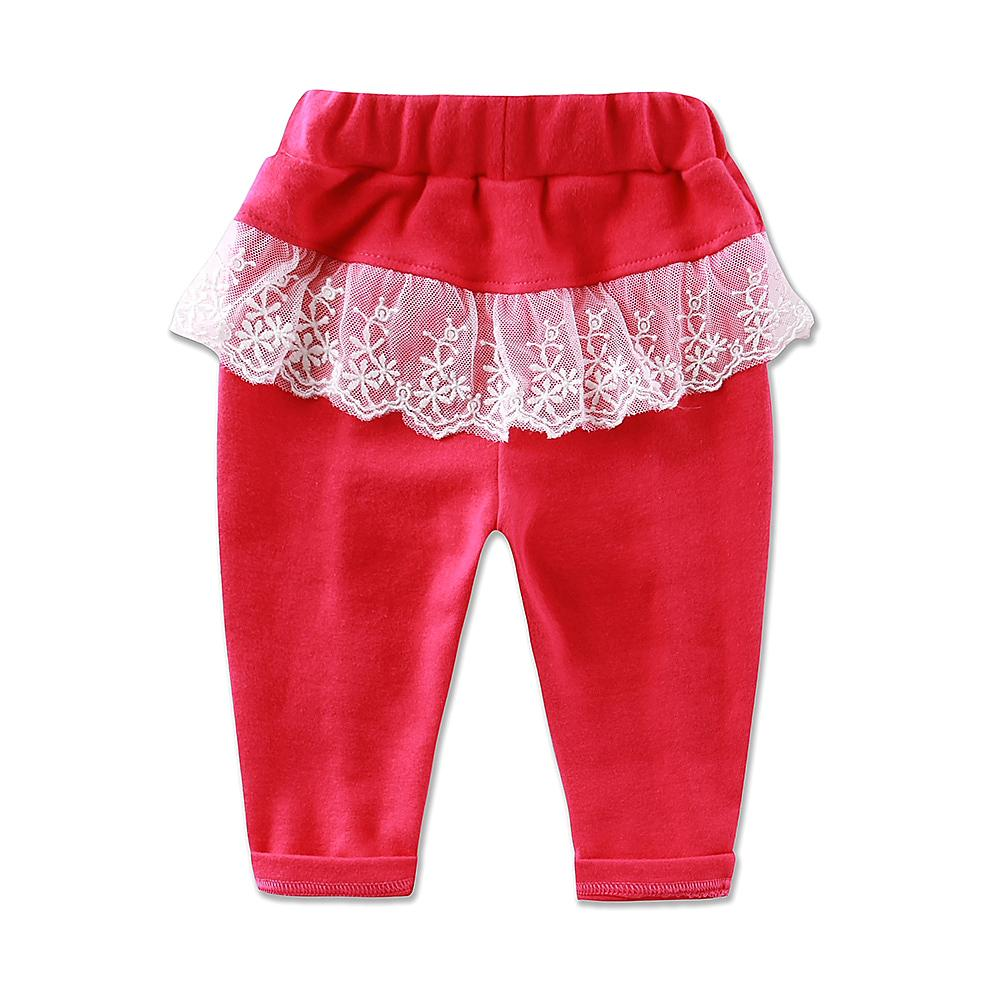 2017 Little Q ropa para bebés niñas pantalones de algodón para niños ropa infantil de encaje princesa leggings niños ropa interior pantalones largos de primavera