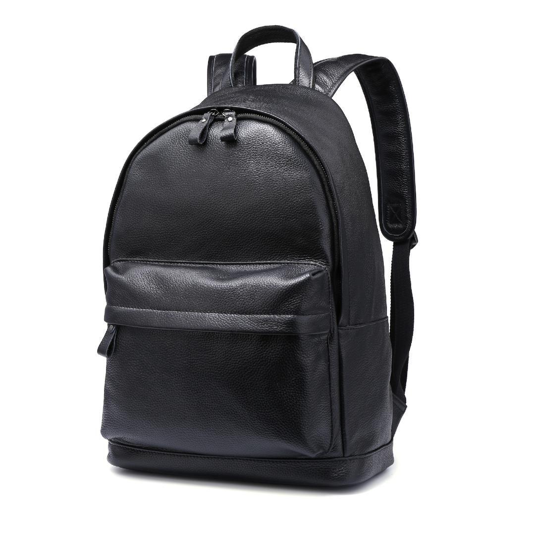 Luxury Brand 100% Genuine Leather Men Backpacks New Fashion Real ... 3207fb24af