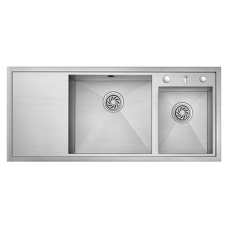 Lavello cucina universale in acciaio inox Wiredrawing OP-PS9214A
