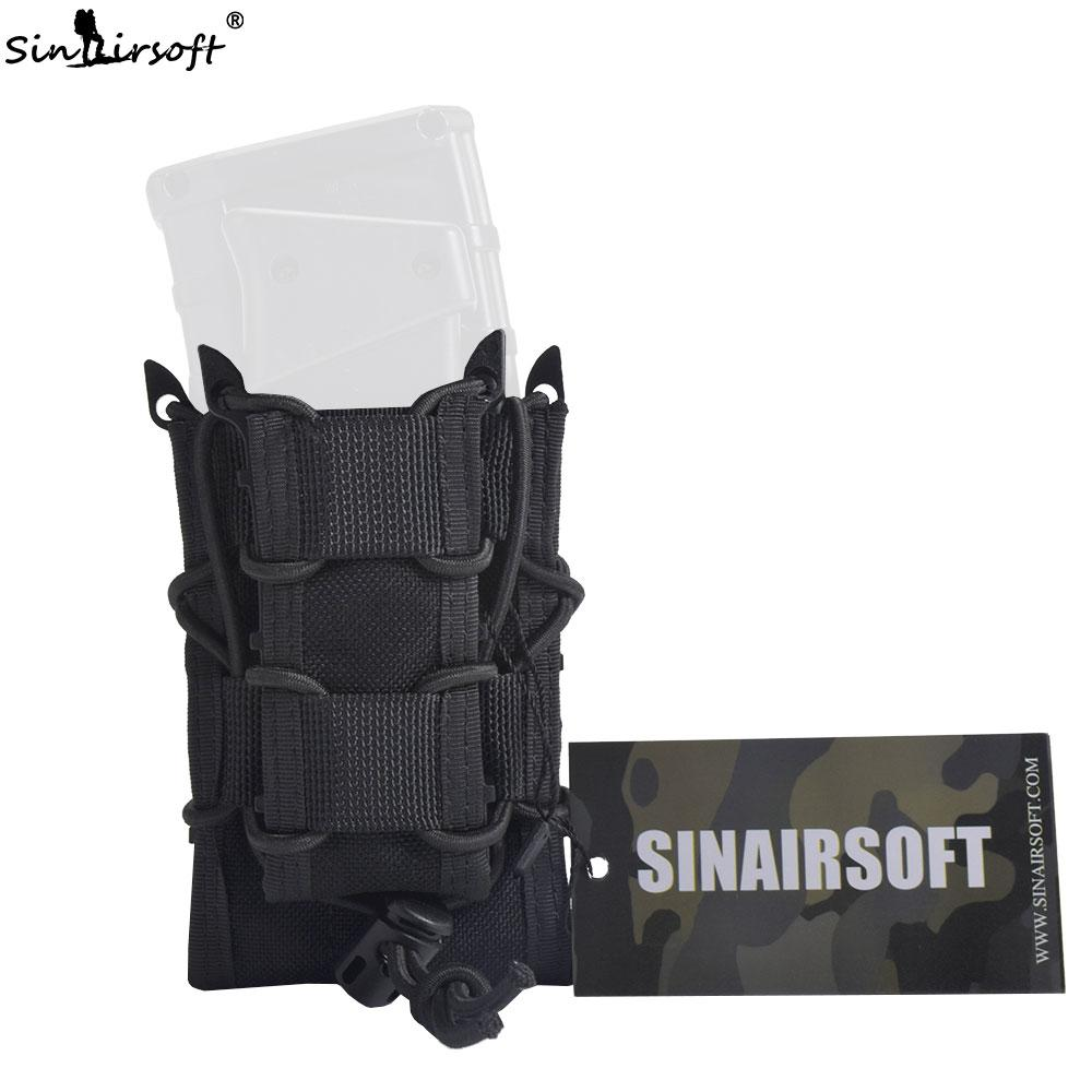 SINAIRSOFT Tactical Double Decker Revista Bolsa 1000D Nylon Mag Pouch Pistola Rifle Molle Holster Holsters para M4 M16 AK 1911 G17