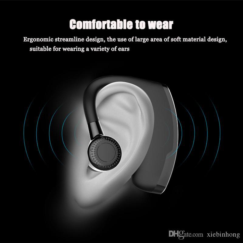 V9 يدوي الأعمال سماعة بلوتوث مع ميكروفون التحكم الصوتي سماعة بلوتوث لاسلكية لإلغاء الضوضاء محرك