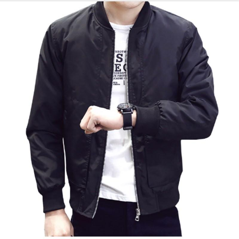 cc7220878 2018 Spring Summer Men s Jackets Thin Solid Coats Male Casual Slim Stand  Collar Bomber Jacket Men Overcoat M-4XL Jacket For Man