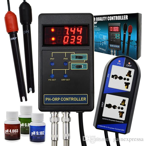 PHC-244_US 2 in 1 Digital pH and ORP Controller with Separate Relays Repleaceable Electrode BNC Type Probe Water Quality Tester for Aquarium