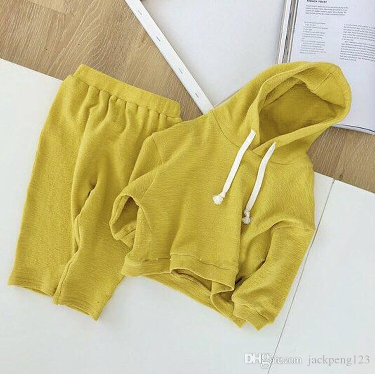2018 new baby children's clothing baby autumn long sleeve suit female 1-2-3 years old children hooded sweater two-piece fashion casual
