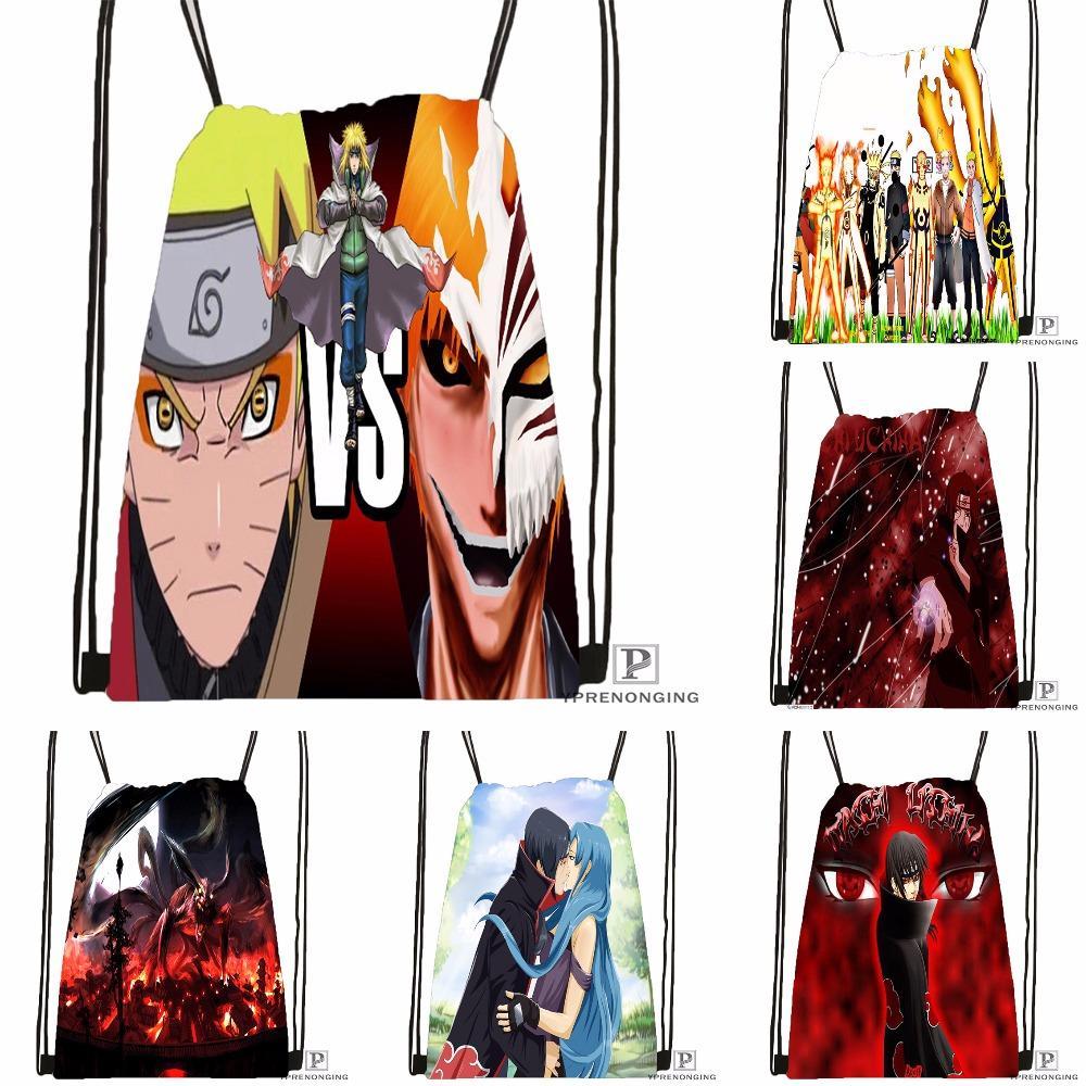 d20efe5b88730 2019 Custom Naruto Shippuden Drawstring Backpack Bag Cute Daypack Kids  Satchel Black Back 31x40cm 180531 04 39 From Leegarden