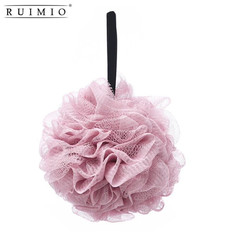 Bath Brushes, Sponges & Scrubbers Shower Flower Body Brush Mesh Exfoliating Body Scrubber Ball Loofah Bath Sponge Pouf Big Full Lather Cleanse Beauty Accessories