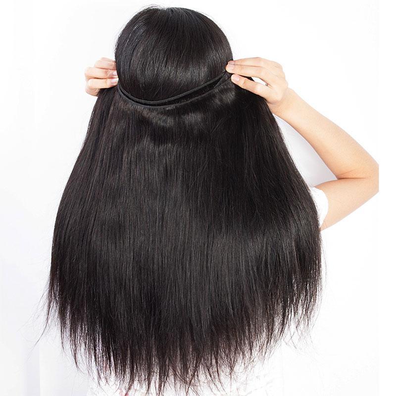 Brasiliana diritta crespa dei capelli del tessuto Bulk / lotto 100% reale 8a umani Grado capelli di vergine all'ingrosso Bundles Bundles brasiliane diritte