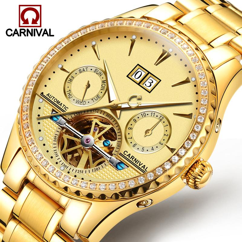 a731d47e6f3 Carnival Mechanical Watch Men Tourbillon Automatic Mechanical ...