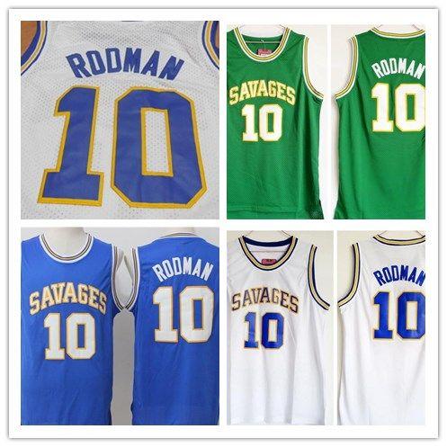 db34ba65e Oklahoma Savages Dennis Rodman College Basketball Jersey 10 Dennis ...