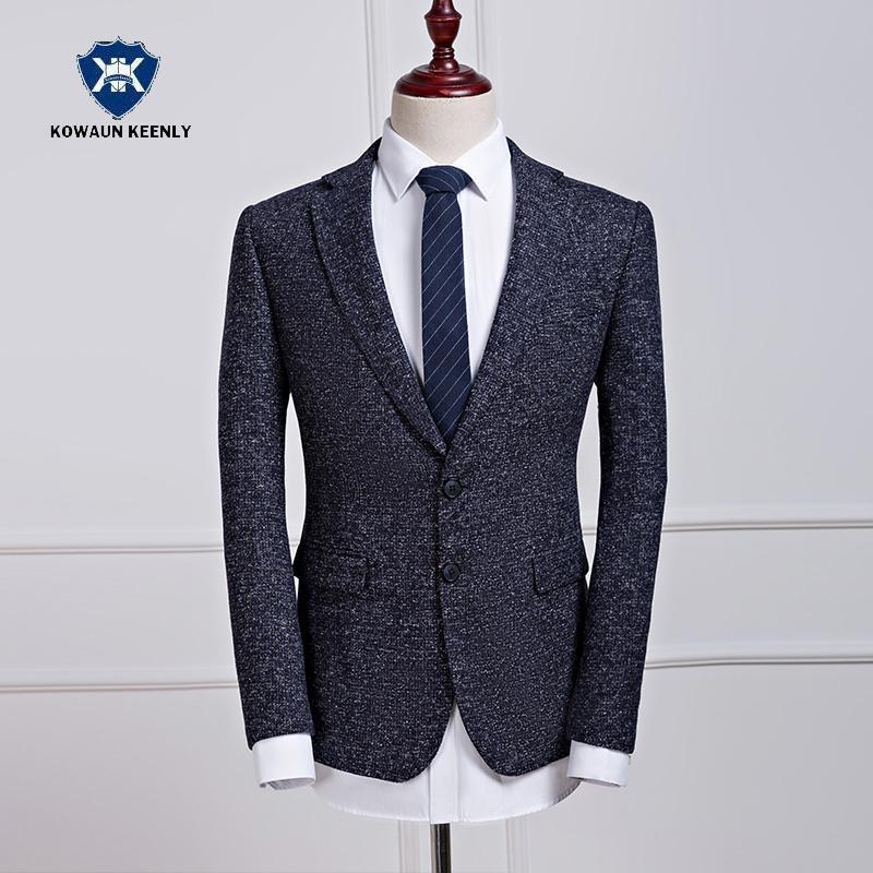 Compre Traje Casual Blazer Slim Fit Hombre Chaqueta De Traje Gris 2017 Moda  Drak Gray Vestido De Novia Tradicional Chaqueta De Lujo Clásico Designs A   86.1 ... f9adea568f3