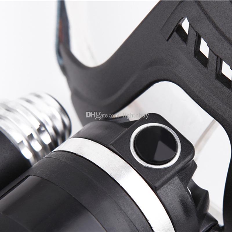 جديد 5000 التجويف 3x XM-L 3T6 led دراجة ضوء المصباح رئيس المصباح للصيد التخييم xml t6 led كشافات