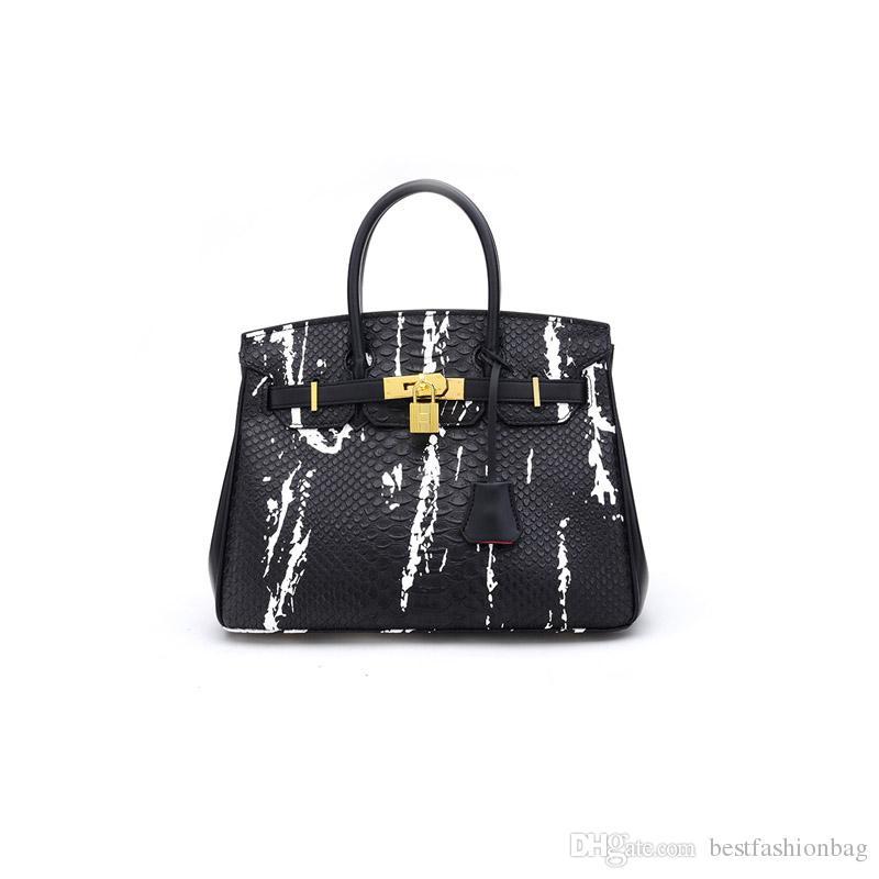 011d25c60be5 2018 Luxury Crocodile Pattern Designer Bags Famous Brand Women ...