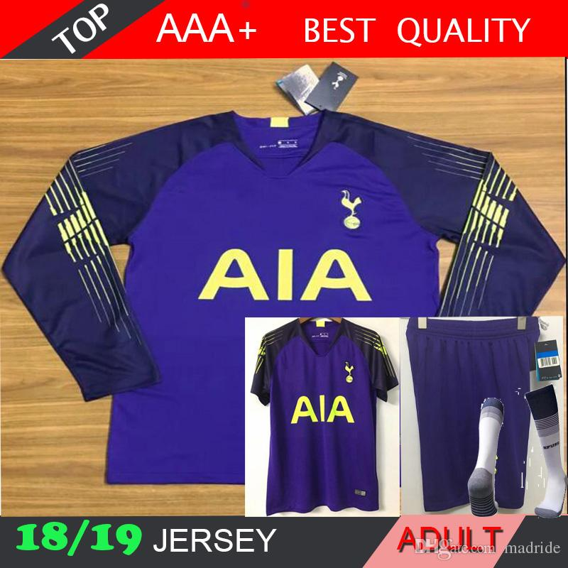 807e8008d92 2019 2018 2019 Soccer Jersey #1 LLORIS KANE LAMELA ERIKSEN DELE SON Jersey  Football Long Sleeve Kit Shirt Goalkeeper Uniforms Set From Madride, ...