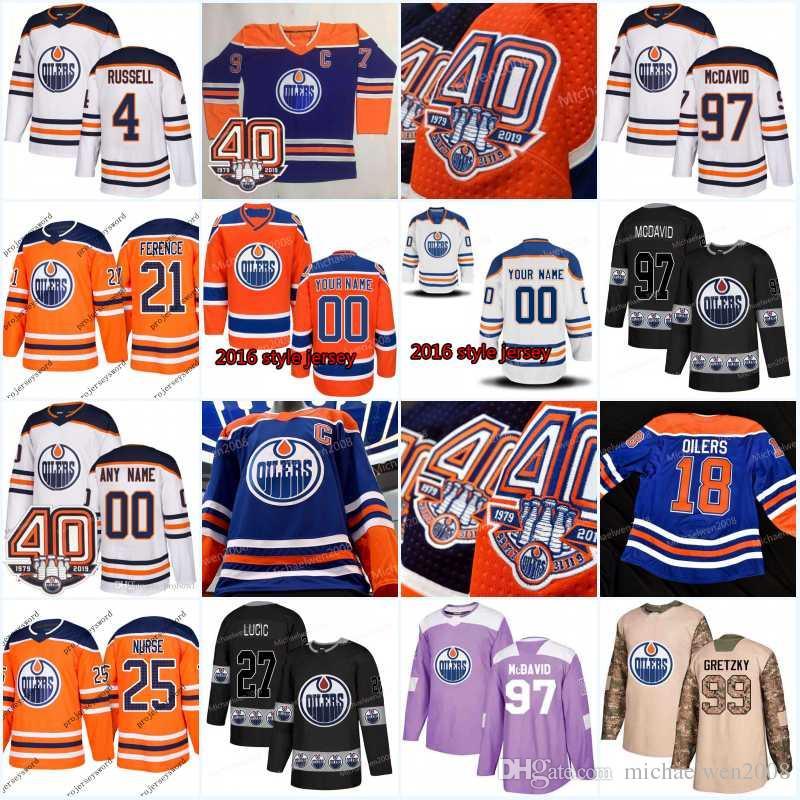 79d0c8806 Compre Nueva Temporada Edmonton Oilers Jersey 75 Evan Bouchard 90 ...