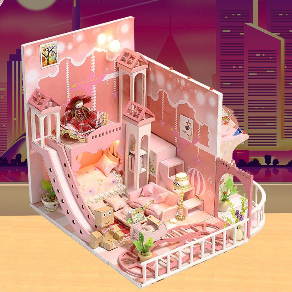 New Romantic 3d Wooden Diy Handmade Box Dreamlike Childhood