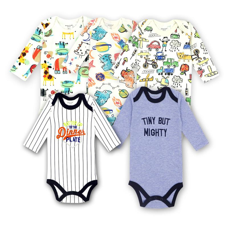 6dec9bf969c4 2019 Cotton Baby Suit Rompers Newborn Cotton Body Baby Long Sleeve ...