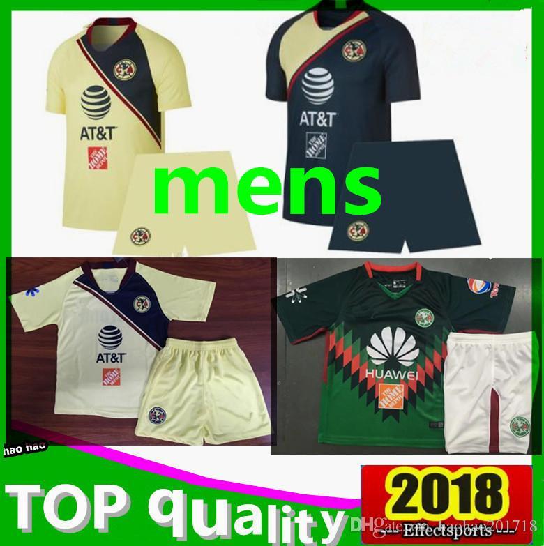 fca1efa98b1 Men Kit 2018 2019 Liga Mexico Club America Soccer Jerseys 18  19 A ...