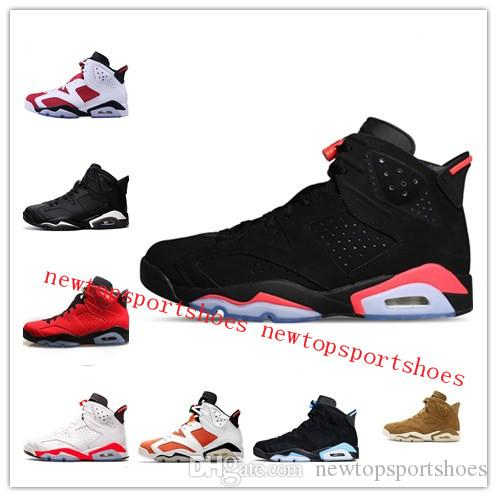 3294aed27686db New 6 Carmine Basketball Shoes Classic 6s UNC Black Blue White ...