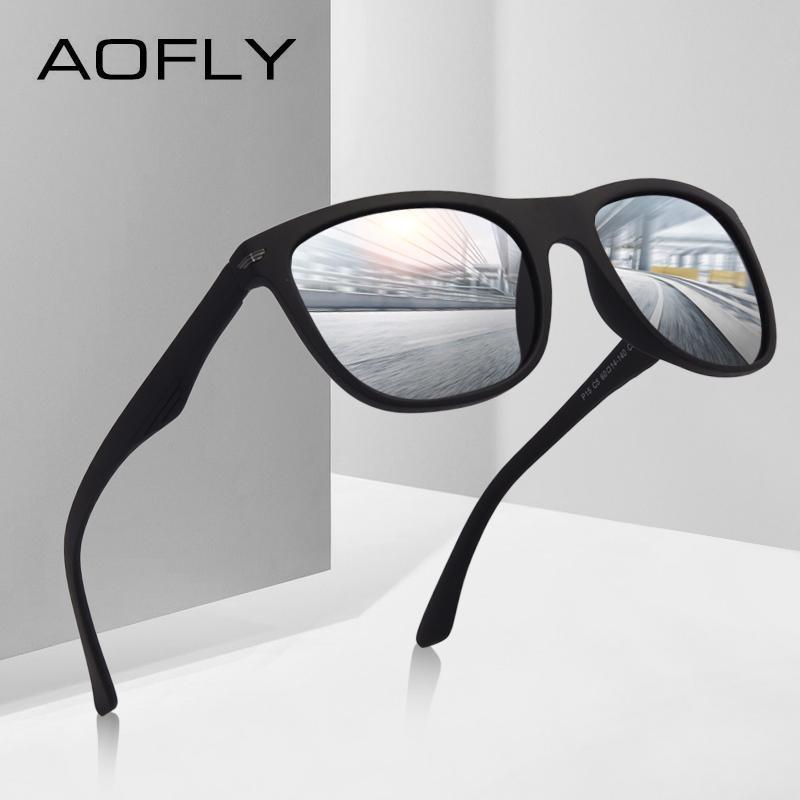 356912e350f AOFLY BRAND DESGIAN Fashion Sunglasses Men Square TR90 Frame Polarized Sun Glasses  Male Outdoor Sports Shades AF8081 D18101302 Cool Sunglasses Custom ...