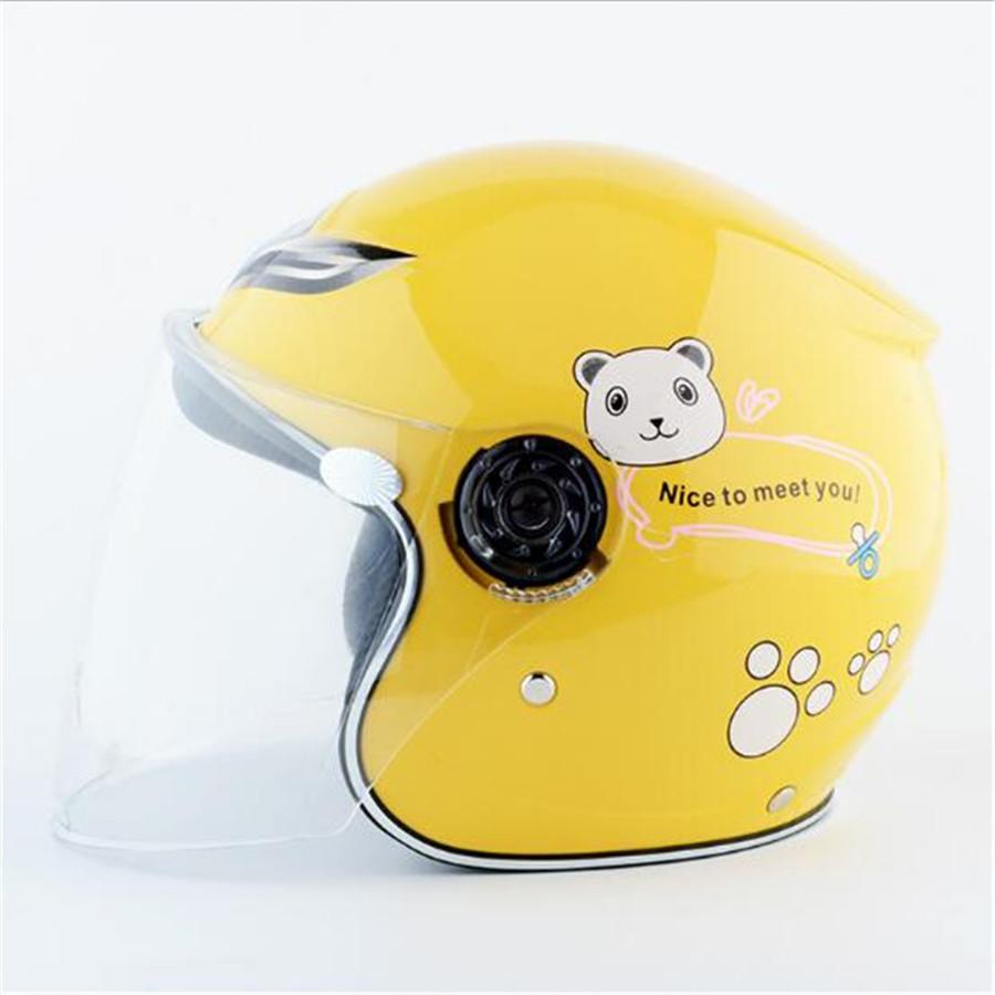 Clearance Sale Cheapest Price Kids baby Helmets safe open face children motorcycle electric bicycle cartoon for 48cm-53cm