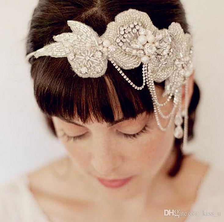 Grosshandel 2018 Frauen Hochzeit Spitze Blumen Stirnband Handwerk