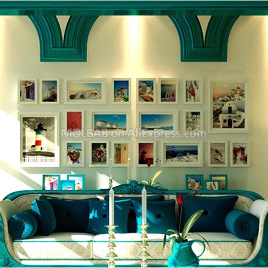 Großhandel Große Moderne Stil Foto Wandverzierung Rahmen Weiß 7 Zoll ...