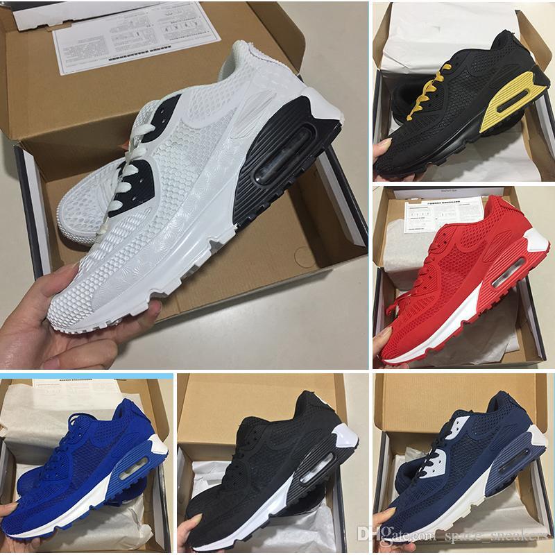 best service 2b798 8d358 Acquista Nike Air Max 90 Kpu Vendita Calda Sneakers Da Uomo E Donna  Classiche Nike Air Max 90 Kpu Ultra Id Scarpe Da Corsa Nero Rosso Bianco  Sport Trainer ...