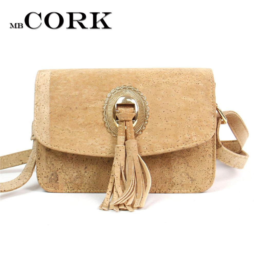 c59d50ce432c Natural Cork Leather Crossbody Handmade Lady Bag Tassels Women Original  Small Vegan Bag High Quality European Seller BAG 246 Designer Purses  Satchel Bags ...