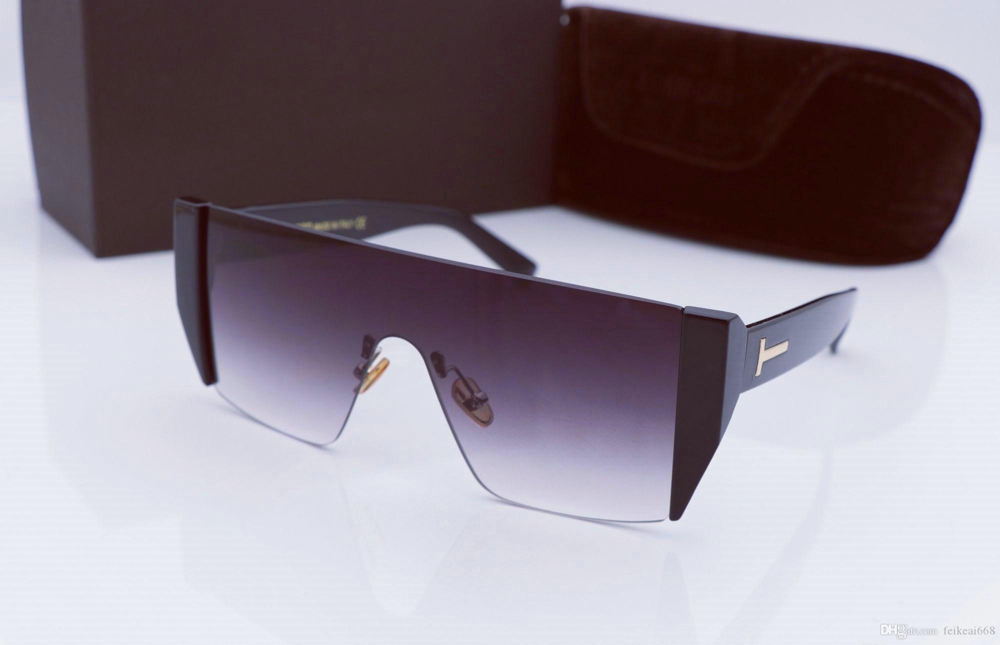 bf798aaf4 Compre Luxo Top Qualtiy Nova Moda 0369 Tom Óculos De Sol Para O Homem Mulher  Erika Eyewear Óculos De Sol Da Marca Designer De Óculos De Sol Com Caixa ...