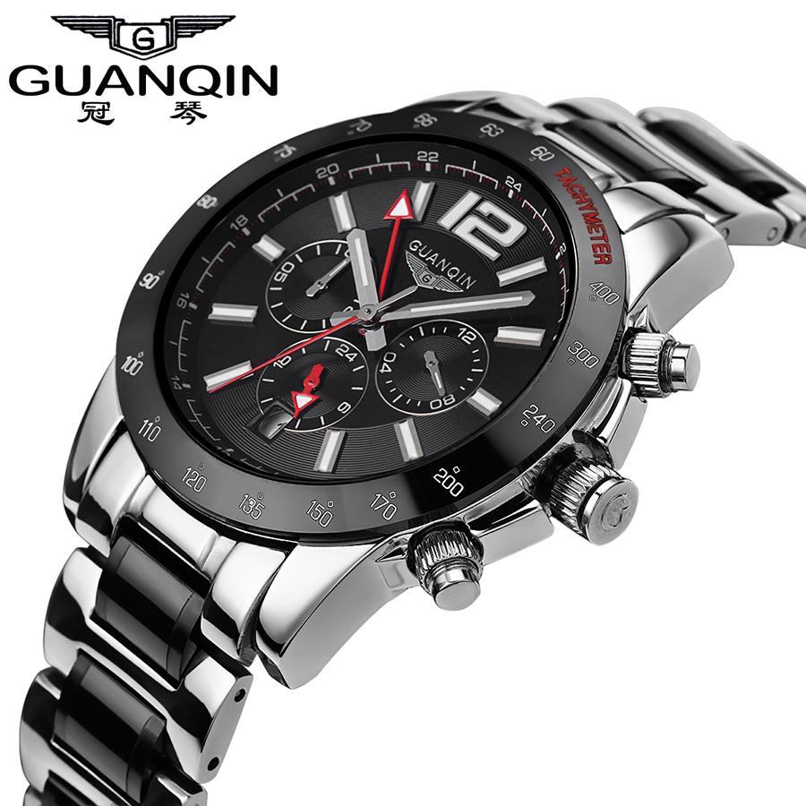 f5dccefd24f Compre Original GUANQIN Assista Men Famosa Marca Mecânica Big Dial Relógios  De Luxo Relógio À Prova D  Água Relógios De Pulso Relogio Masculino Reloj  De ...