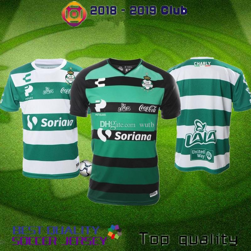 newest 30c5a 053a9 Mexicana de Fútbol Santos Laguna Jersey De Visita 2018 - 2019 Marca Charly  Guerreros Soccer Jersey Mexico la liga shirt S - XXL