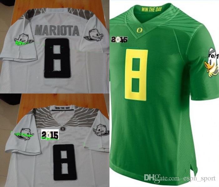 low priced 00f88 3dfb7 2015 Finais # 8 Marcus Mariota, Oregon Ducks Camisolas de Futebol da NCAA,  2015 Playoff National Championship Bound Diamond Jerseys