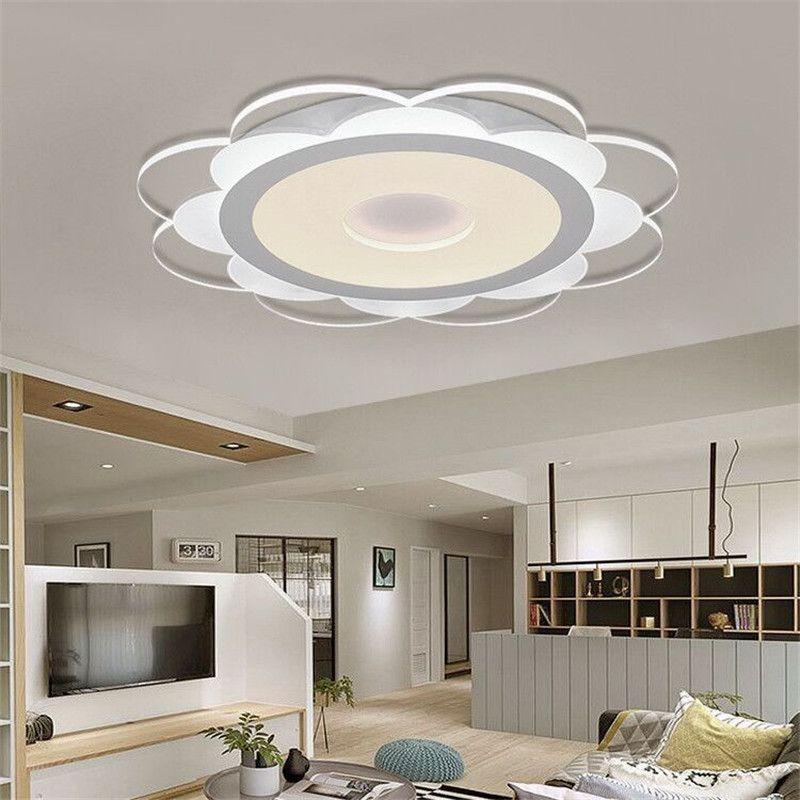 Acquista Plafoniera Da Salotto A LED Ultraleggera Piccola Moderna ...