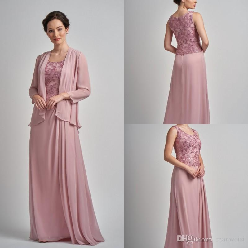 96ab2d96de Elegant Plus Size Mother Of The Bride Dresses With Jacket Sequins Lace  Dress Evening Wear Scoop Neck Wedding Guest Dresses Mother Of The Bride  Dresses Tea ...