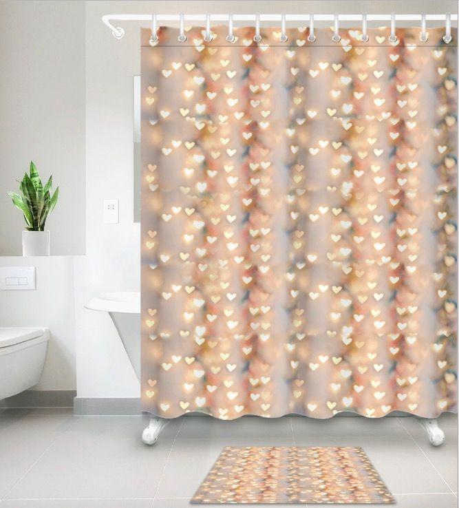 2019 Glittering Light Love Gift 3d Print Custom Waterproof Bathroom