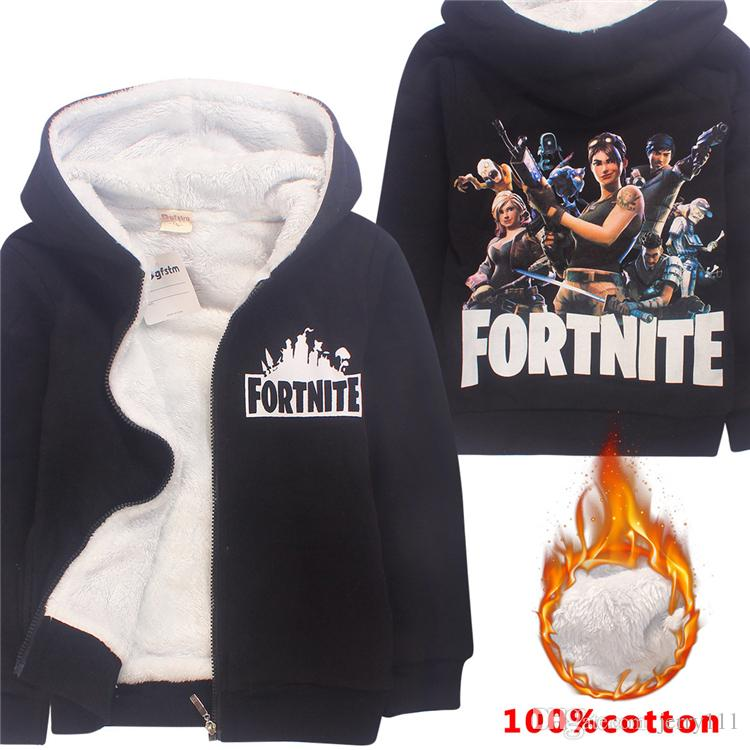 4a64bd8f5 Warm Fortnite Hoodies Sweatshirts 6-14 Years Old Kids 100% Cotton ...