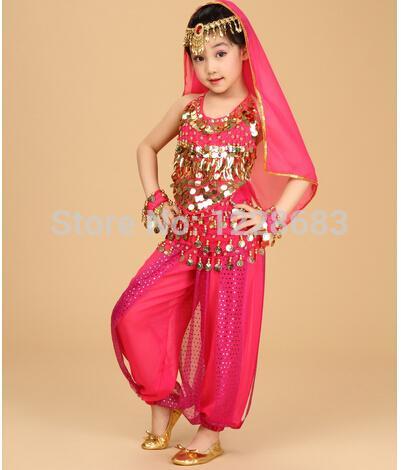 Acquista Costumi Di Danza Di Bollywood Abiti Di Danza Del Ventre Indiani  Abiti Di Bollywood Bambini Ragazza Bambino A  25.97 Dal Laftfly  0242a89da9b