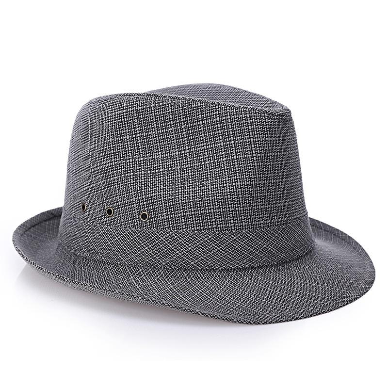c7cb16d069 Summer Men Straw Fedora Hats Chapeu Masculino Sun Panama Trilby Caps Linen  Jazz Easter Hats Fur Hats From Pickled, $22.04| DHgate.Com