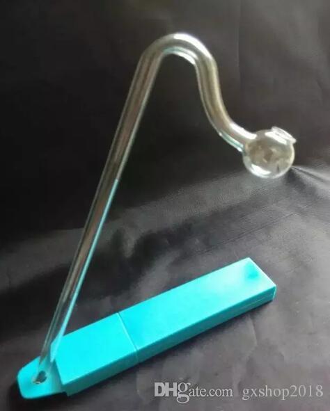 Длинный изогнутый горшок, оптовые стеклянные бонги Масляная горелка Стеклянные трубы Трубы для воды Стеклянные трубы Масляные буксиры Бесплатная доставка