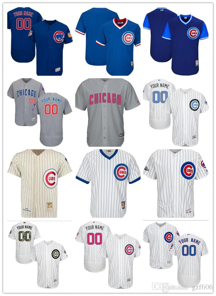 2019 Custom Men S Women Youth Majestic Chicago Cubs Jersey Personalized  Name And Number Blue Grey White Kids Girls Baseball Jerseys From Gzf606 296b2ce19