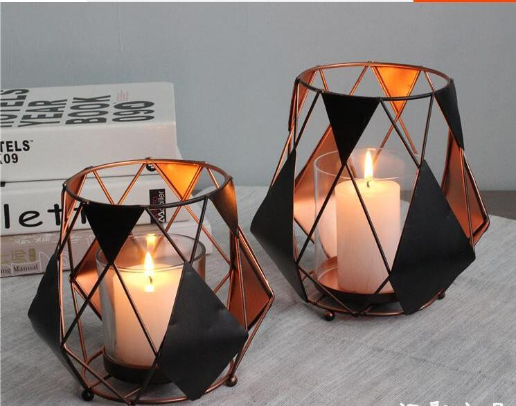 Ball shape Black Retro metal candle holder without candles, decorative candle stick