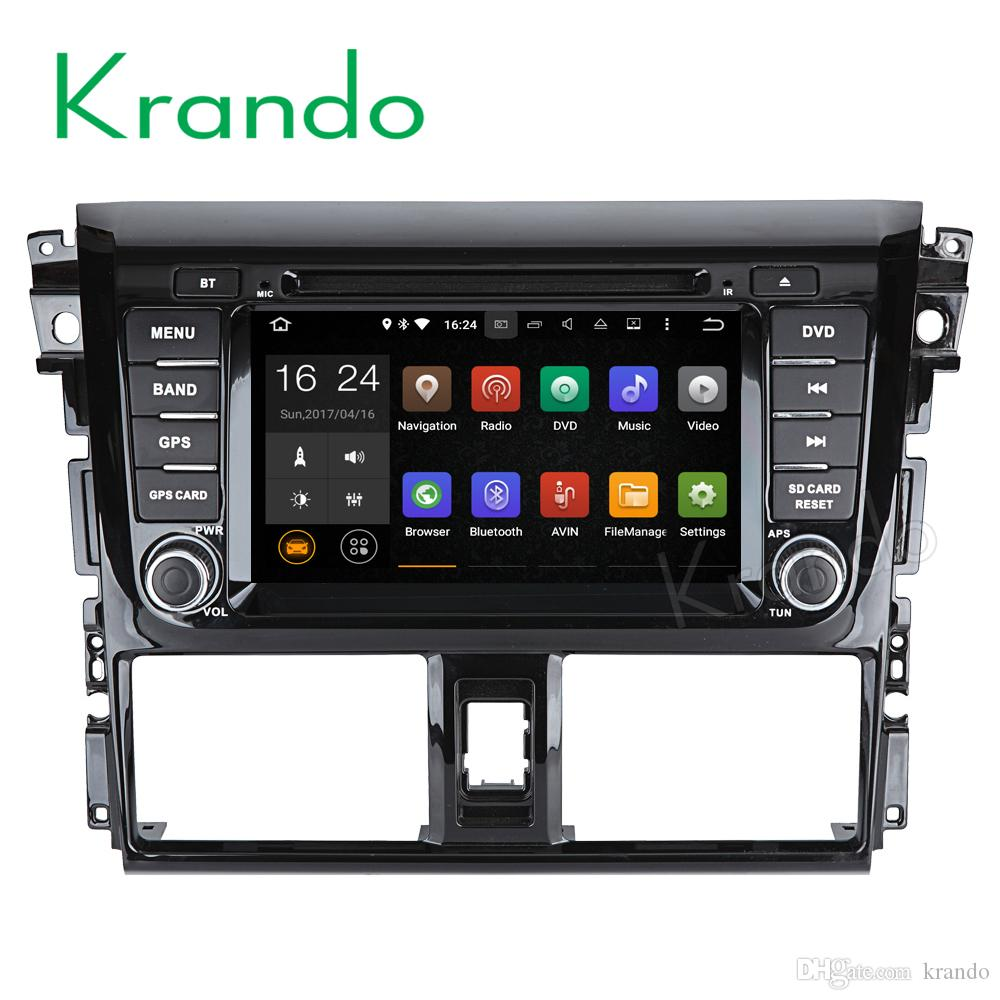 "Krando 7"" Android 7.1 car dvd navigation multimedia system for TOYOTA VIOS for YARIS Sedan 2013- 2016 for Third generation radio"