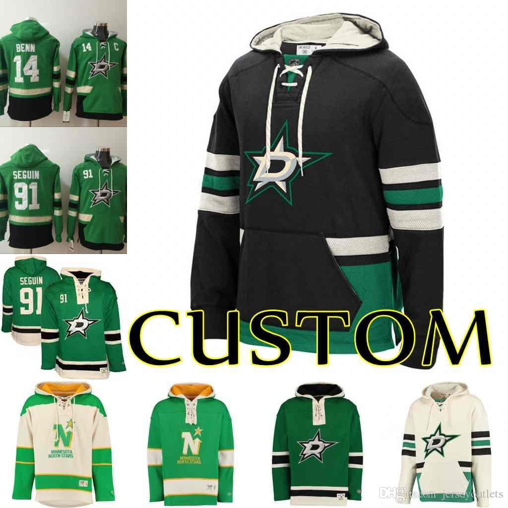 the best attitude b55f2 79d0b Hoodie Mens Dallas Stars Custom 30 Ben Bishop 14 Jamie Benn 91 Tyler Seguin  47 Alexander Radulov Hoodies Customized Sweatshirts Stitched